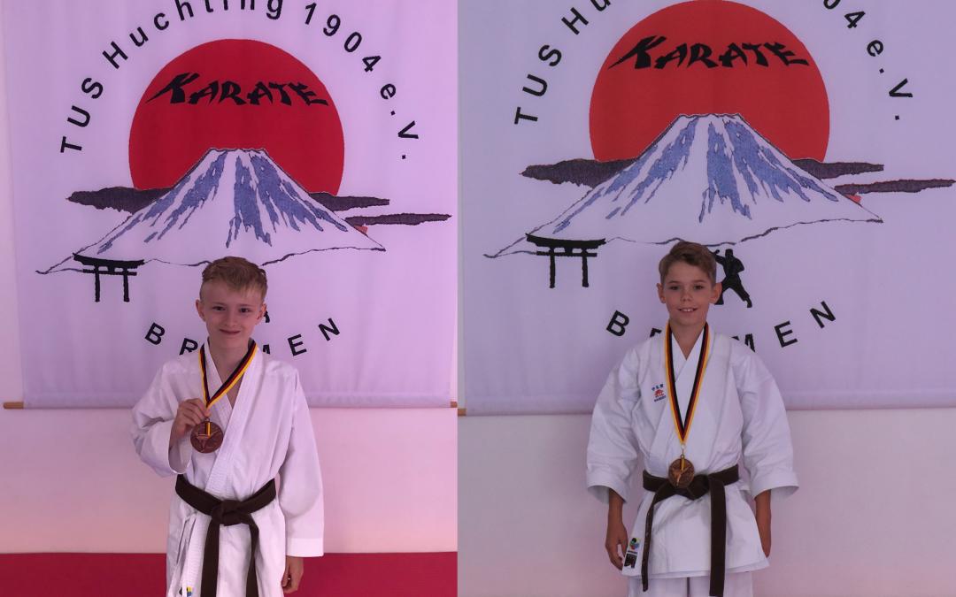 Zweimal Bronze für den TuS Huchting bei der Deutschen Karate Meisterschaft.
