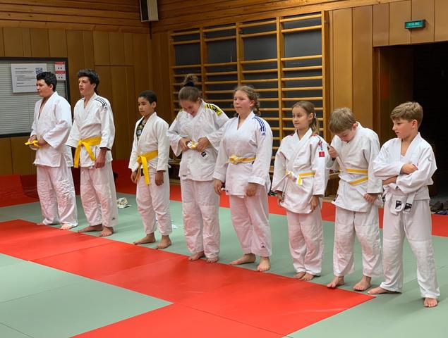 Gürtelprüfung der Judoabteilung